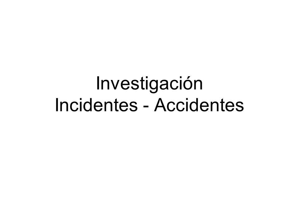 Investigación Incidentes - Accidentes