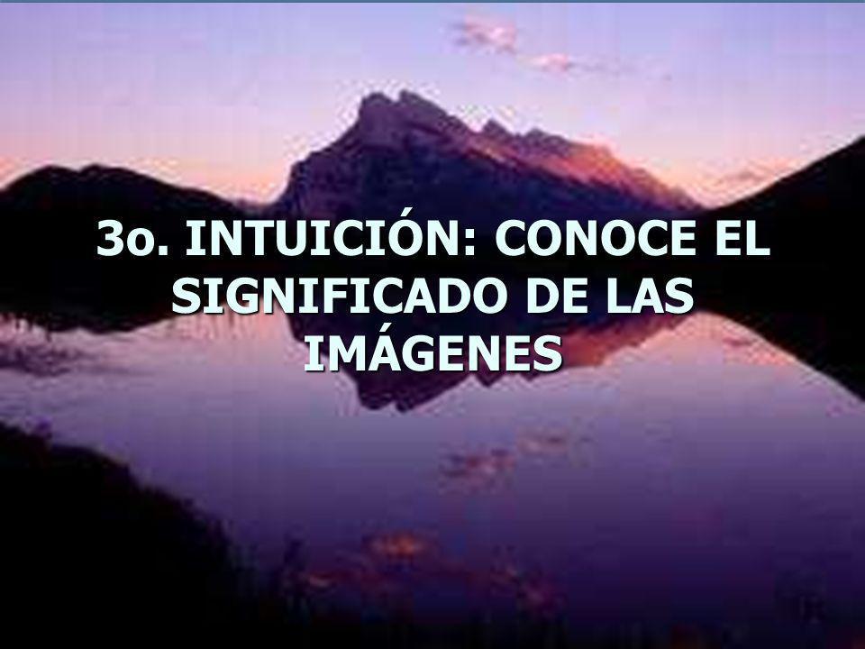 3o. INTUICIÓN: CONOCE EL SIGNIFICADO DE LAS IMÁGENES