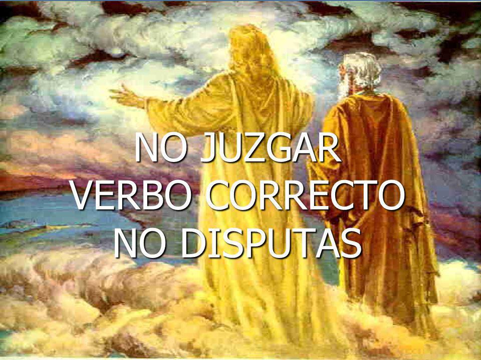 NO JUZGAR VERBO CORRECTO NO DISPUTAS