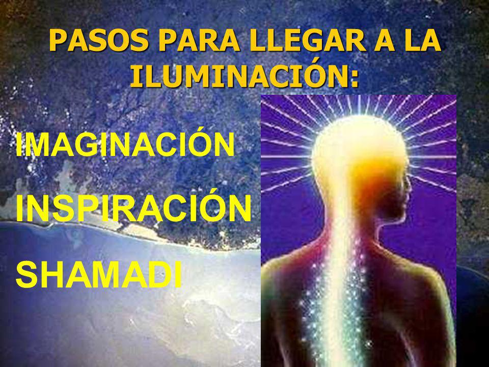 PASOS PARA LLEGAR A LA ILUMINACIÓN: IMAGINACIÓN INSPIRACIÓN SHAMADI