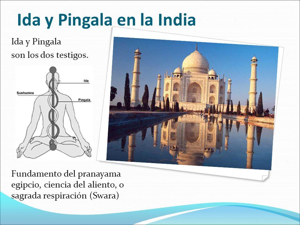 Ida y Pingala son los dos testigos. Fundamento del pranayama egipcio, ciencia del aliento, o sagrada respiración (Swara) Ida y Pingala en la India