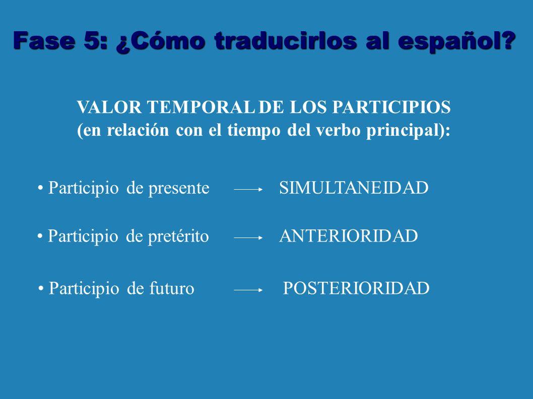 Fase 5: ¿Cómo traducirlos al español.