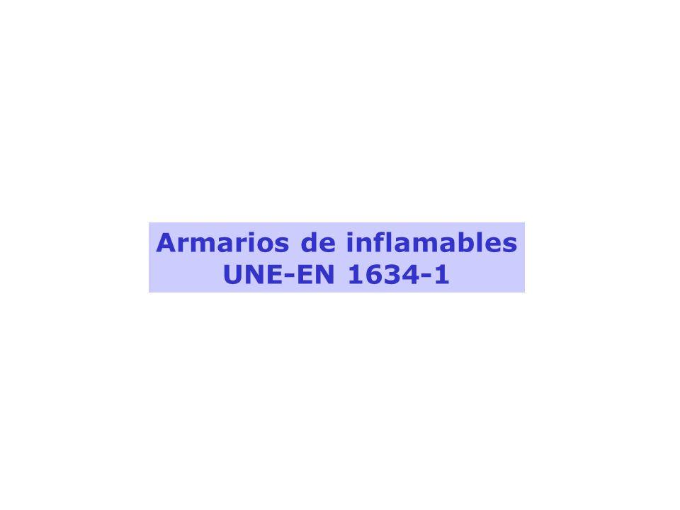 Armarios de inflamables UNE-EN 1634-1