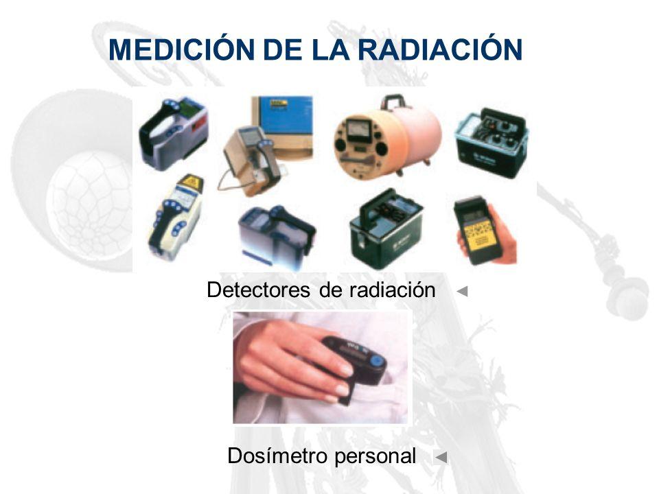 MEDICIÓN DE LA RADIACIÓN Detectores de radiación Dosímetro personal