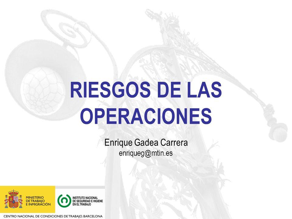 RIESGOS DE LAS OPERACIONES Enrique Gadea Carrera enriqueg@mtin.es