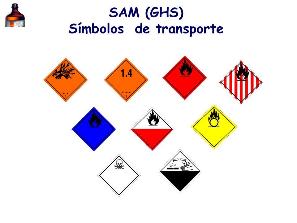 SAM (GHS) Símbolos de transporte