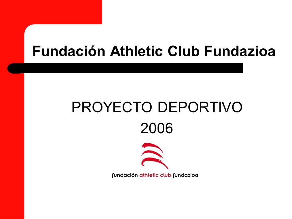 Proyecto Deportivo Fundación Athletic Club Fundazioa Zonas de tecnificación Escuelas de porteros Formación y soporte técnico a clubes convenidos Centros médicos Fundación Athletic Club Fundazioa Clubes Convenidos Fútbol femenino
