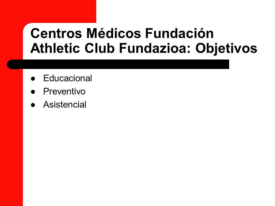 Centros Médicos Fundación Athletic Club Fundazioa: Objetivos Educacional Preventivo Asistencial