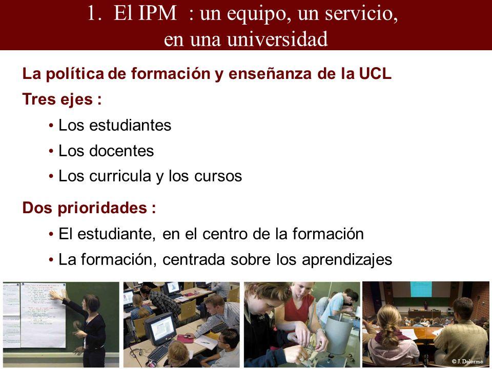 1.El IPM : un equipo, un servicio, en una universidad