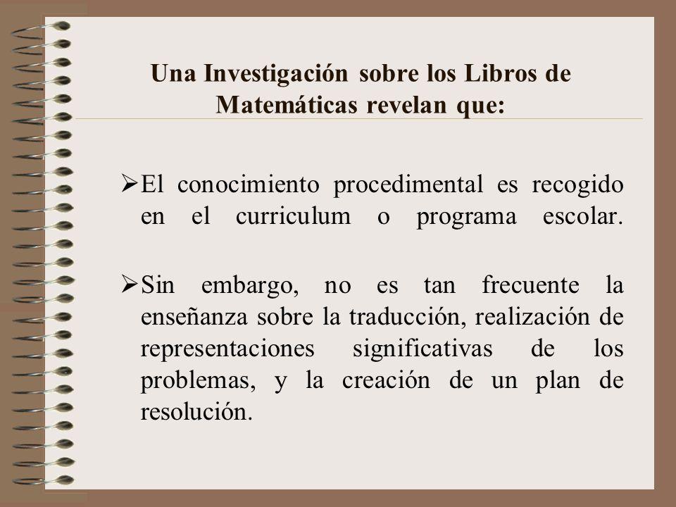 Conclusión Para resolver un problema una persona necesita: Conocimiento lingüístico y semántico para la traducción del problema Conocimiento esquemáti