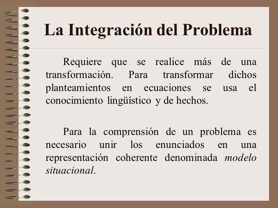 Implicaciones para la Enseñanza Importancia en la comprensión del enunciado, especialmente en las que se expresan relaciones Lewis.- programa instrucc