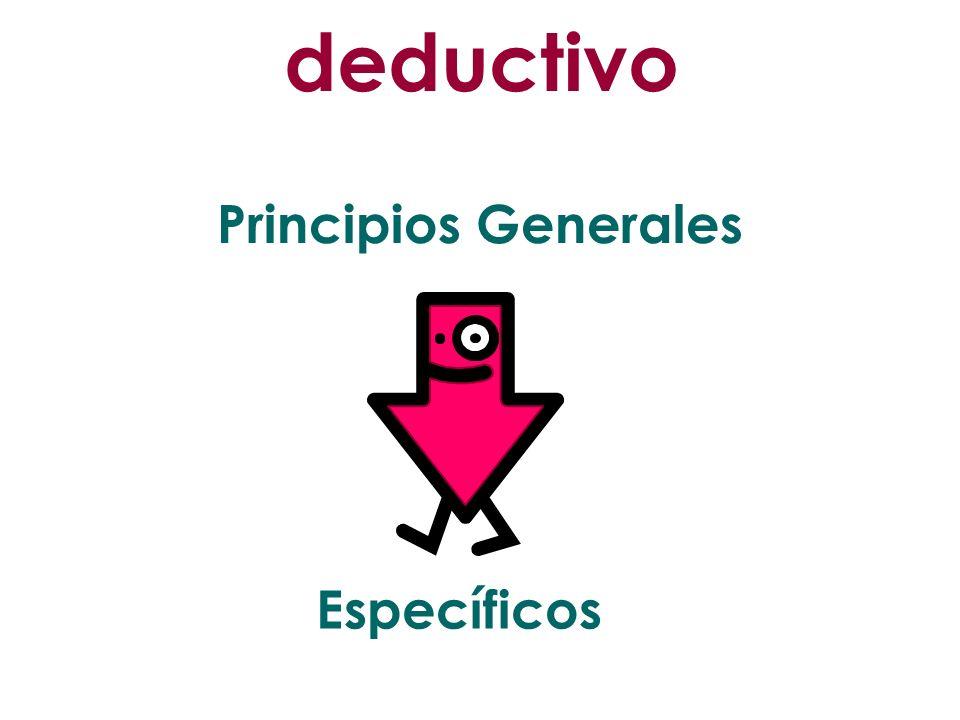 deductivo Principios Generales Específicos