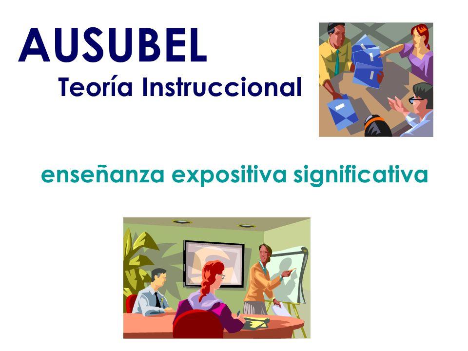enseñanza expositiva significativa Teoría Instruccional AUSUBEL