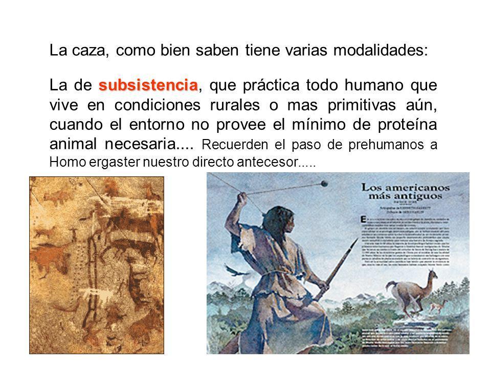 subsistencia La de subsistencia, que práctica todo humano que vive en condiciones rurales o mas primitivas aún, cuando el entorno no provee el mínimo
