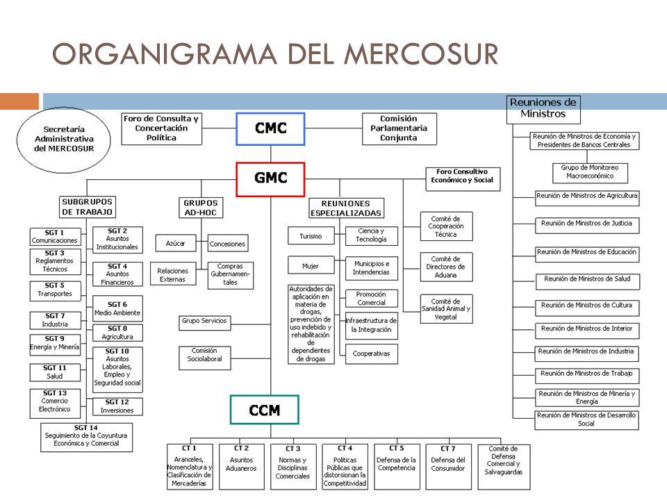 ORGANIGRAMA DEL MERCOSUR