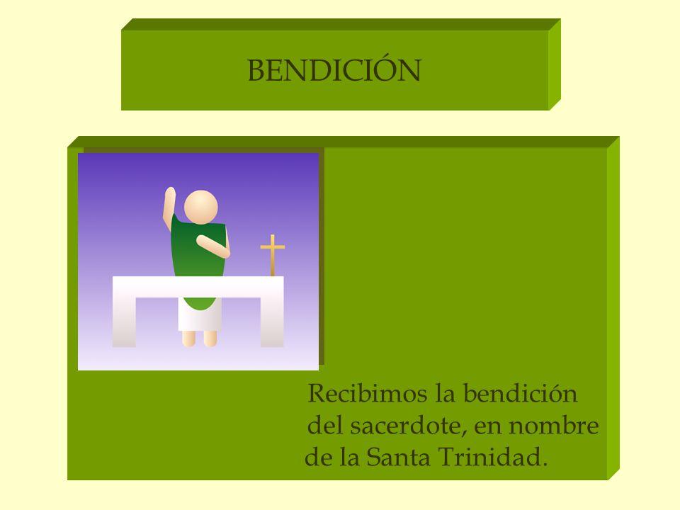 BENDICIÓN Recibimos la bendición del sacerdote, en nombre de la Santa Trinidad.