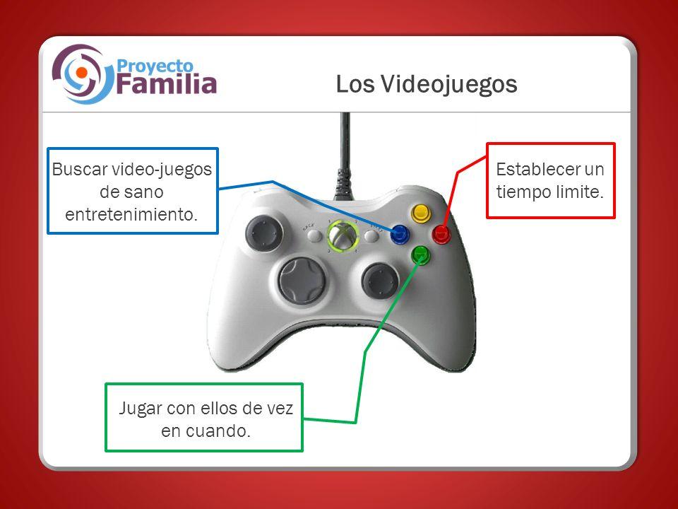 Buscar video-juegos de sano entretenimiento. Los Videojuegos Establecer un tiempo limite. Jugar con ellos de vez en cuando.