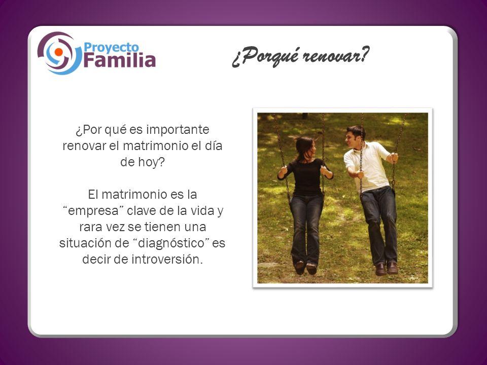 Según datos de la investigación Conocer la Familia, las variables más relacionadas con el éxito en el matrimonio son: Cercanía Comunicación Aprecio de cónyuge - El 90% de quienes tienen estas características están casados y el 80% de ellos están satisfechos.