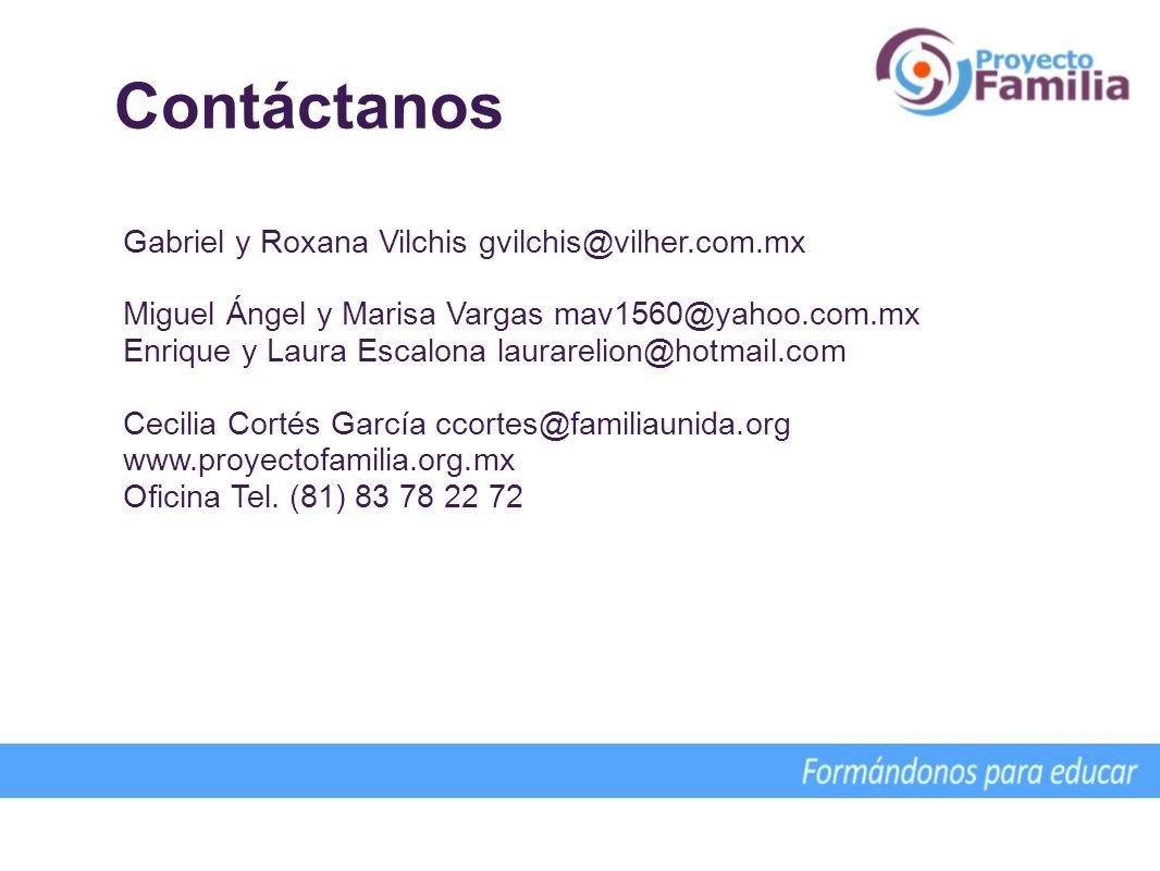 Contáctanos Gabriel y Roxana Vilchis gvilchis@vilher.com.mx Miguel Ángel y Marisa Vargas mav1560@yahoo.com.mx Enrique y Laura Escalona laurarelion@hot
