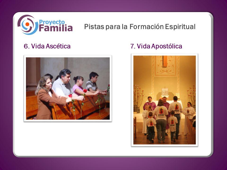6. Vida Ascética7. Vida Apostólica Pistas para la Formación Espiritual