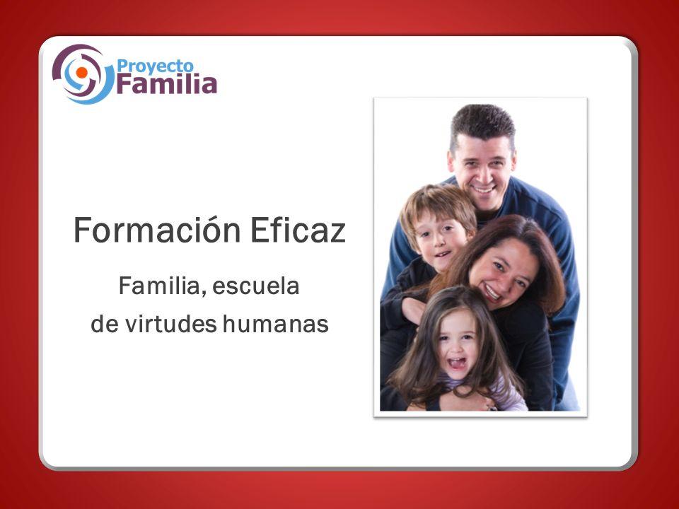 Formación Eficaz Familia, escuela de virtudes humanas