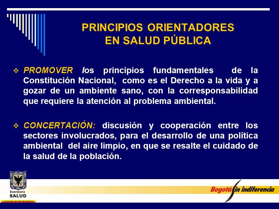 PRINCIPIOS ORIENTADORES EN SALUD PÚBLICA PROMOVER los principios fundamentales de la Constitución Nacional, como es el Derecho a la vida y a gozar de