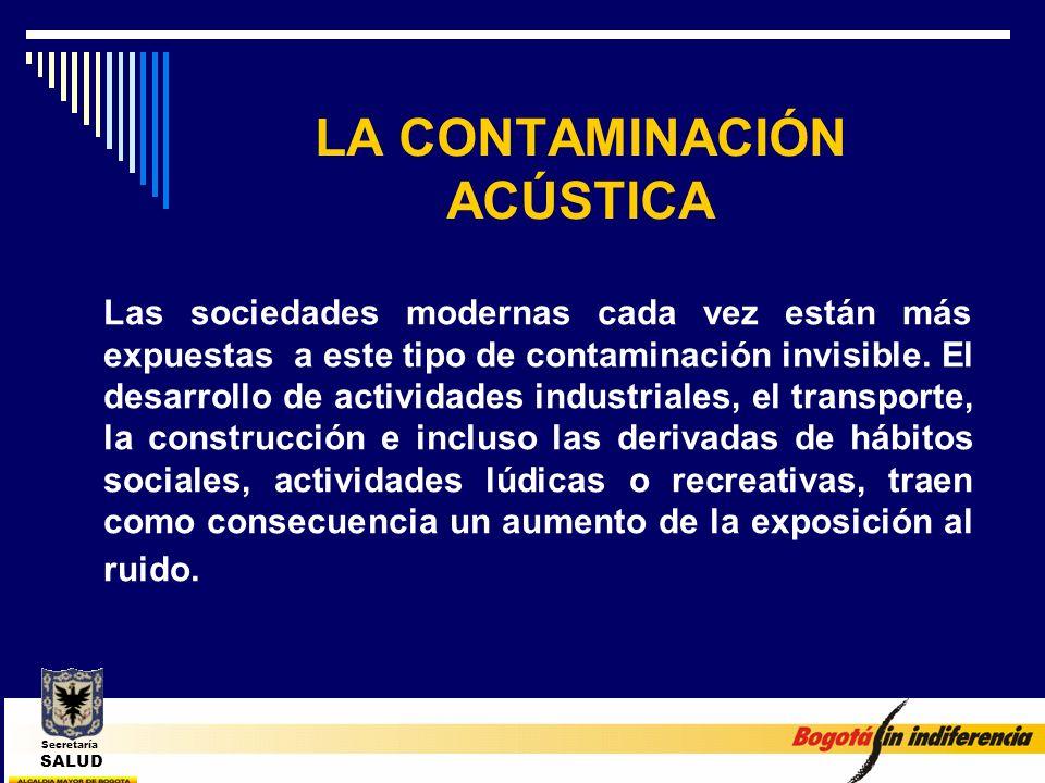 LA CONTAMINACIÓN ACÚSTICA Las sociedades modernas cada vez están más expuestas a este tipo de contaminación invisible. El desarrollo de actividades in