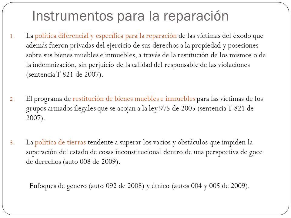 Instrumentos para la reparación 1.
