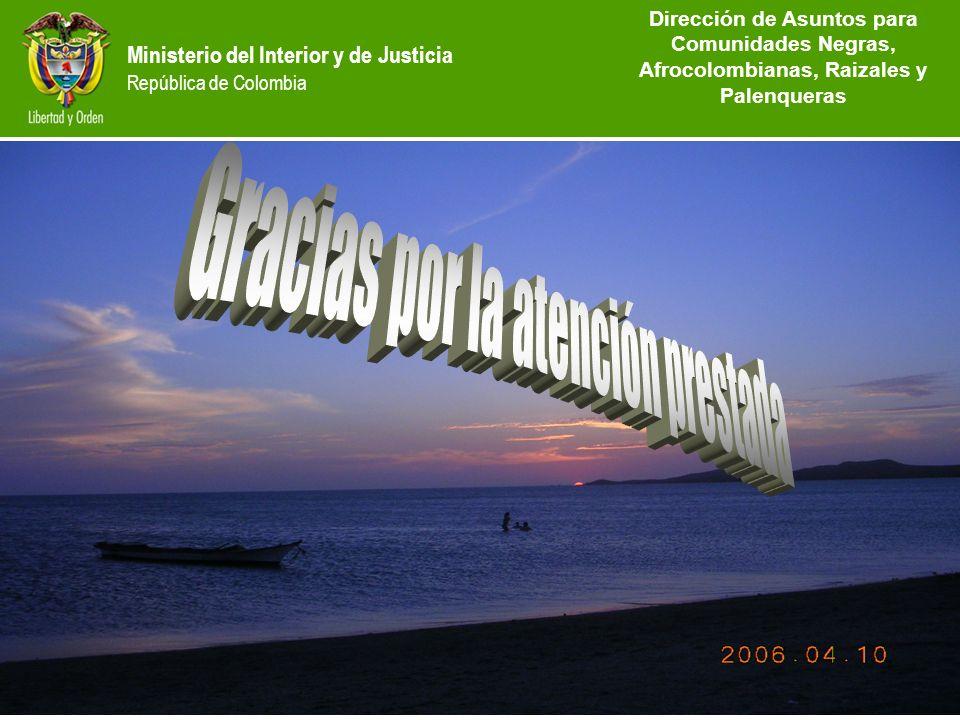 Dirección de Etnias República de Colombia Ministerio del Interior y de Justicia República de Colombia Dirección de Asuntos para Comunidades Negras, Af