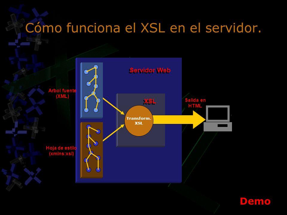 Cómo funciona el XSL en el servidor. Transform.