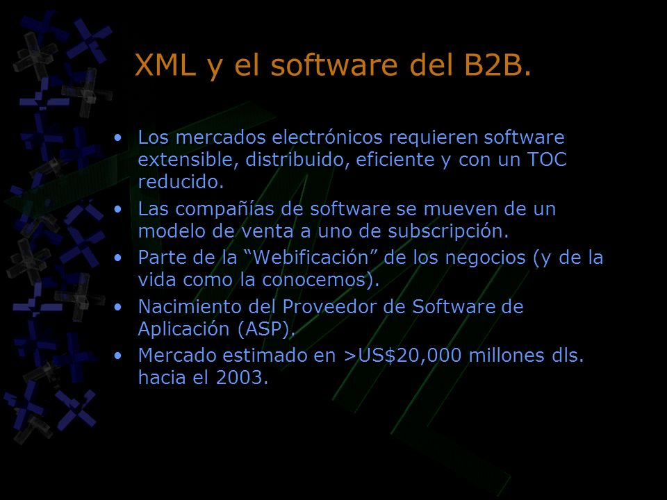 XML y el software del B2B.