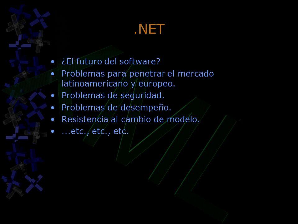 .NET ¿El futuro del software. Problemas para penetrar el mercado latinoamericano y europeo.