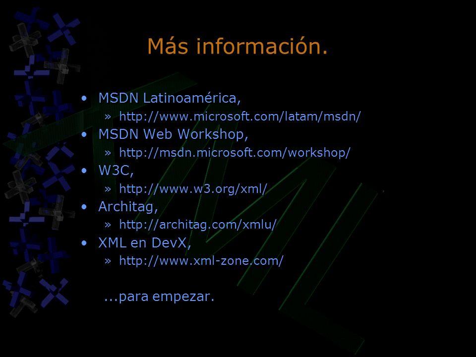 Más información.