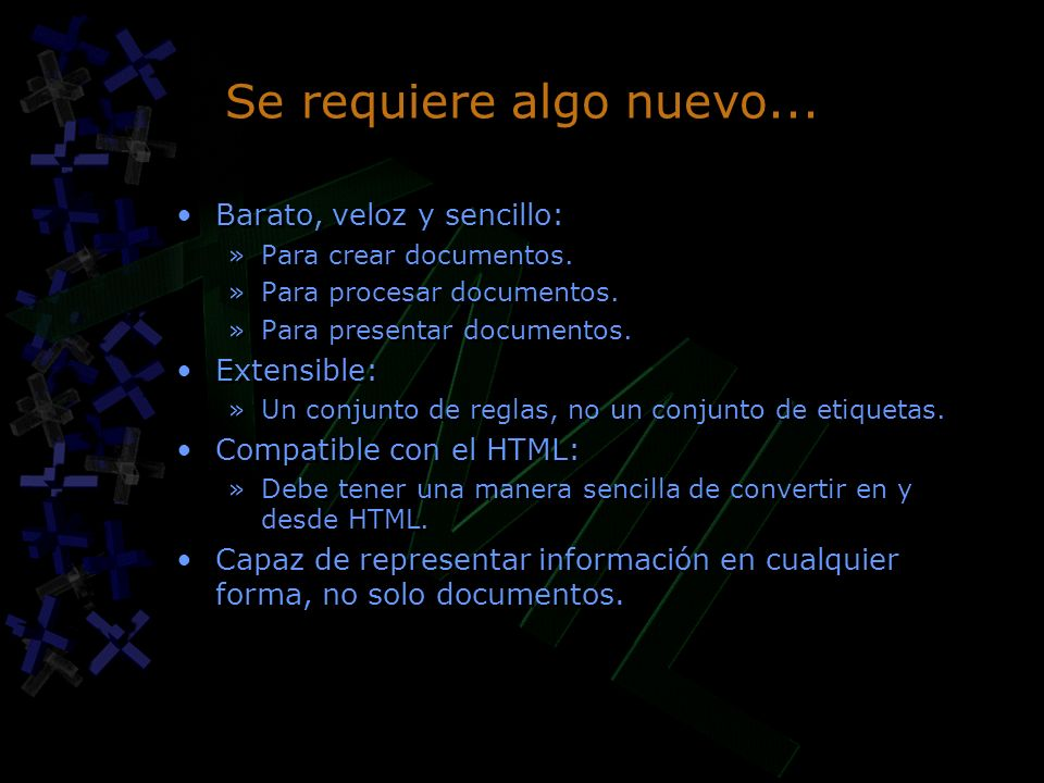 Se requiere algo nuevo... Barato, veloz y sencillo: »Para crear documentos.