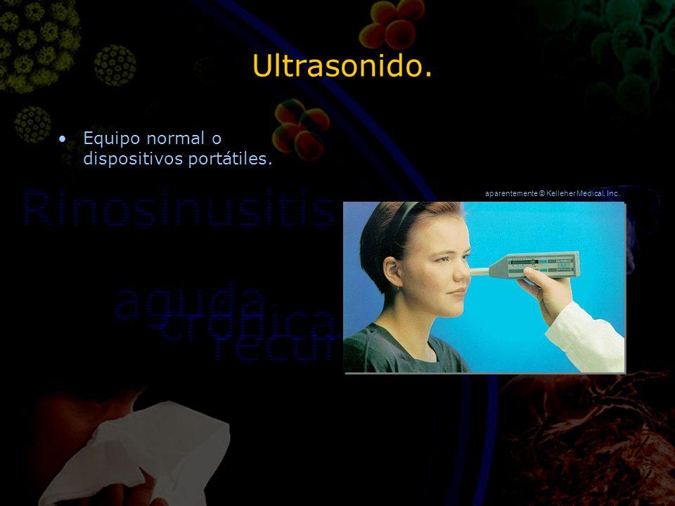 Ultrasonido. Equipo normal o dispositivos portátiles. aparentemente © Kelleher Medical, Inc.