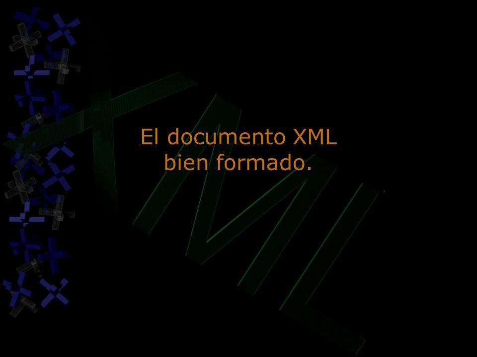 El documento XML bien formado.