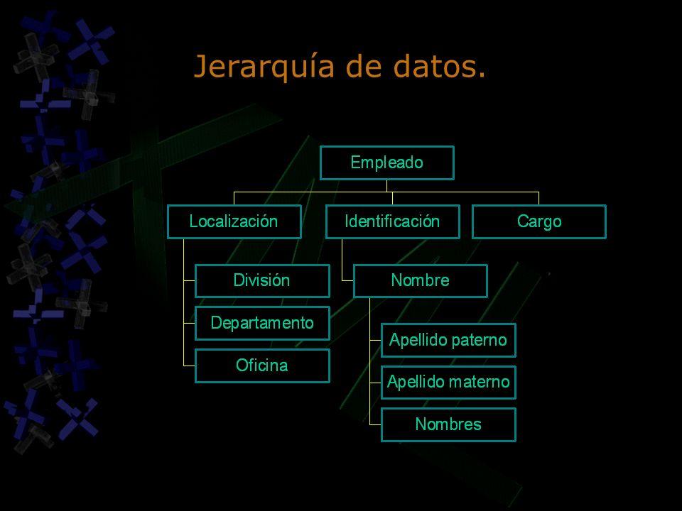 Jerarquía de datos.