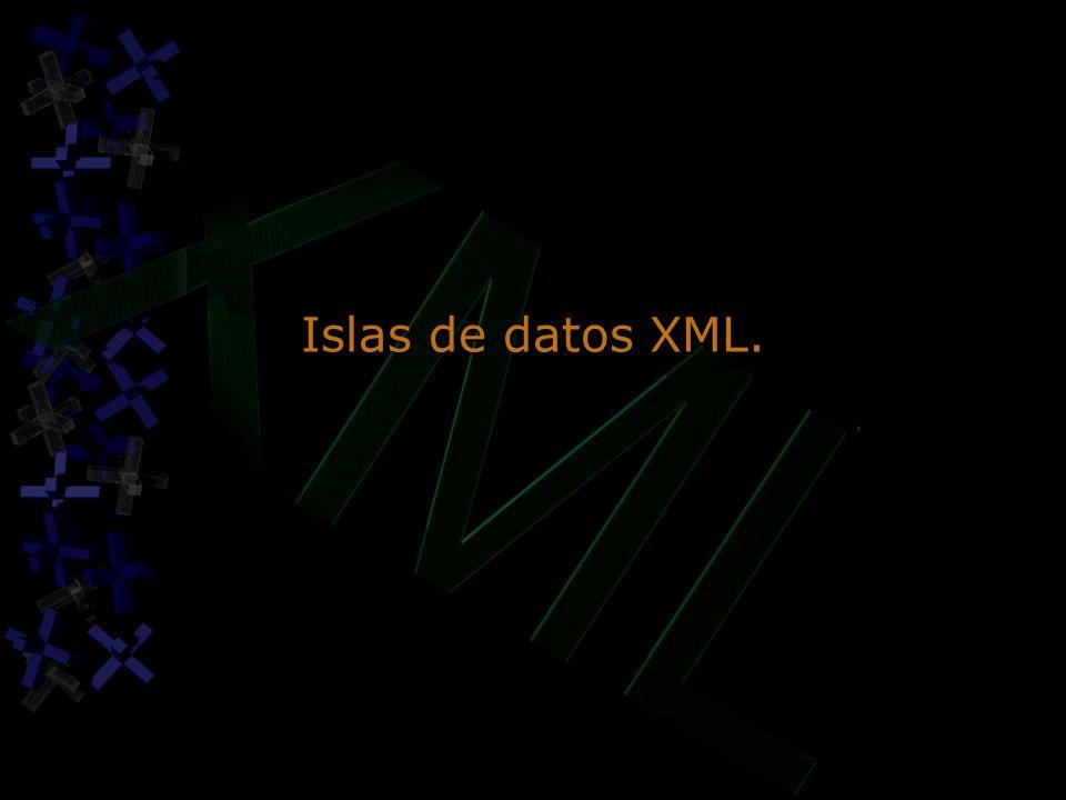 Islas de datos XML.