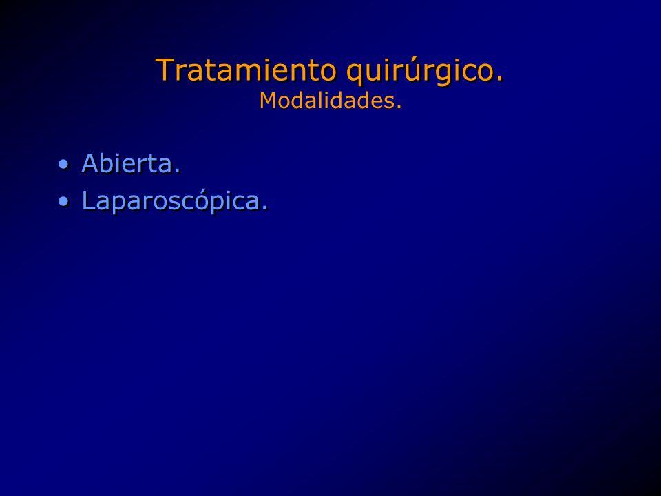 Tratamiento quirúrgico.Funduplicatura de Nissen. Funduplicatura de Lind.
