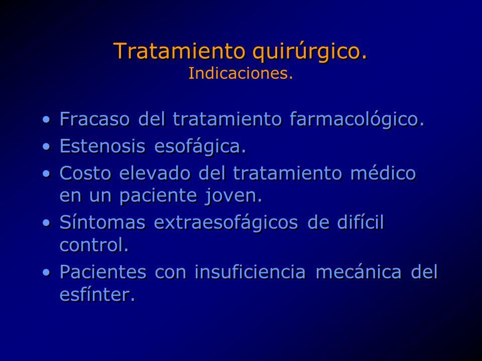 Tratamiento quirúrgico.Edad avanzada. Enfermedades que eleven el riesgo quirúrgico.