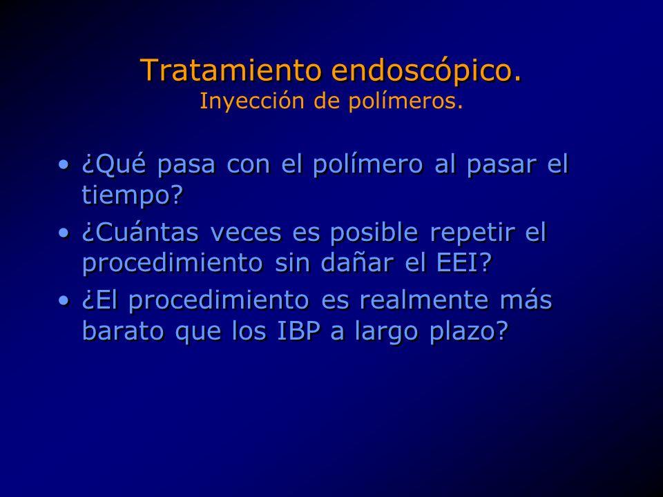 Tratamiento endoscópico.Creación de una a tres plicas a la altura del EEI.