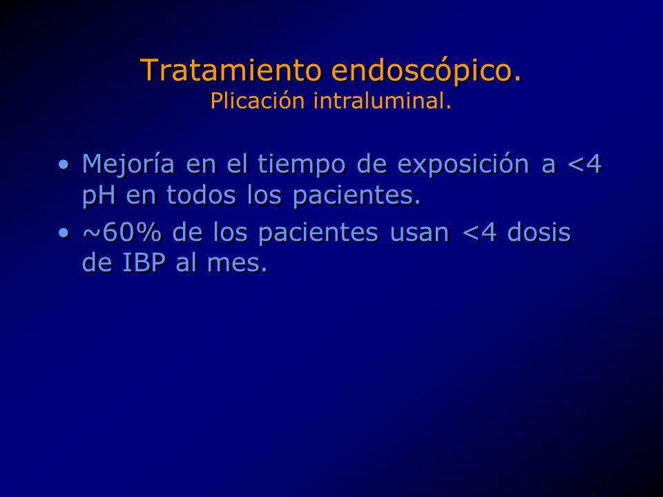 Tratamiento endoscópico.8 pasos relativamente complejo.