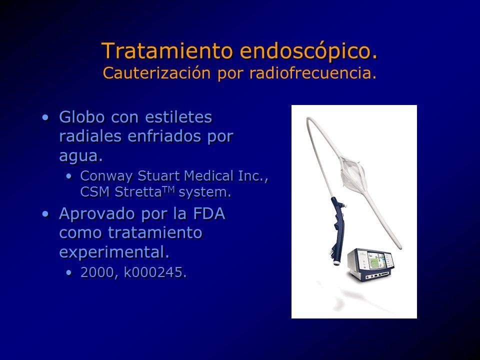 Tratamiento endoscópico. Cauterización por radiofrecuencia.
