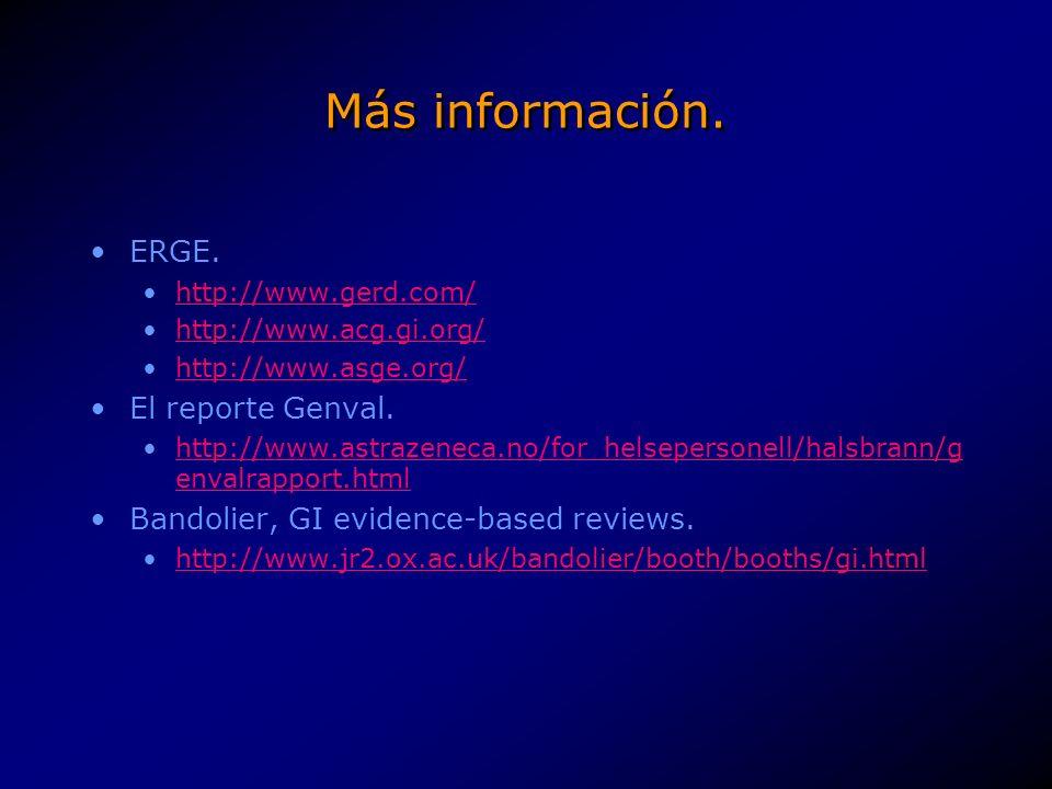 Más información.Tratamiento endoscópico (AGSE proceedings).