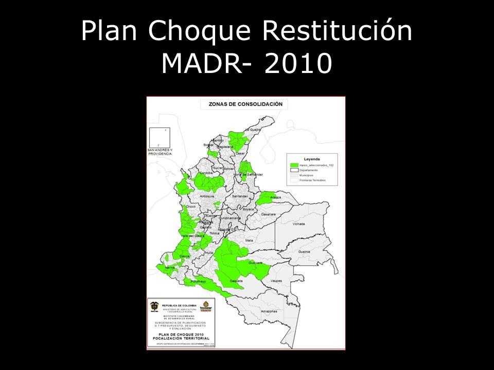 Plan Choque Restitución MADR- 2010