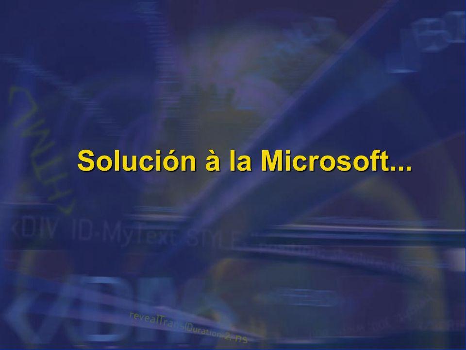 Solución à la Microsoft...