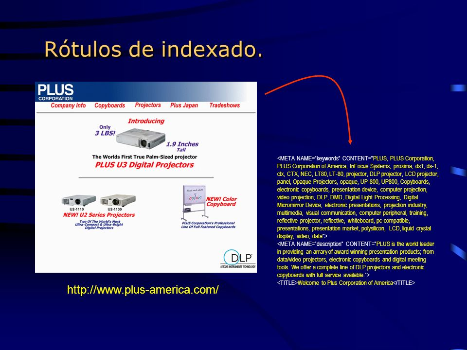 Rótulos de indexado. Welcome to Plus Corporation of America http://www.plus-america.com/