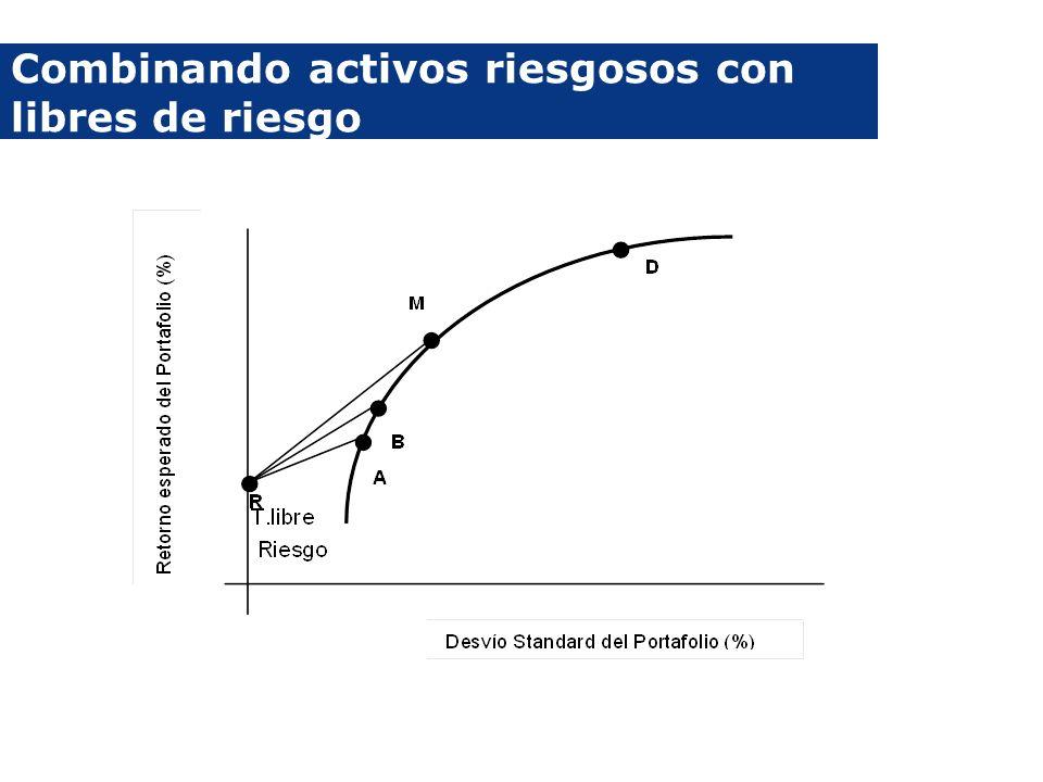 Combinando activos riesgosos con libres de riesgo