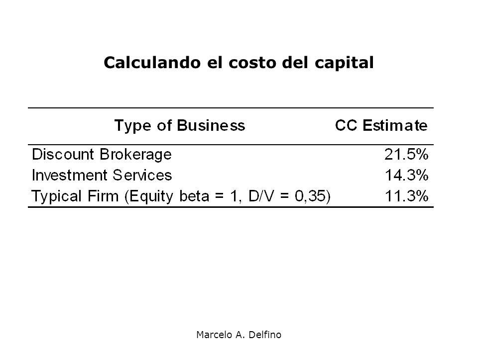 Marcelo A. Delfino Calculando el costo del capital