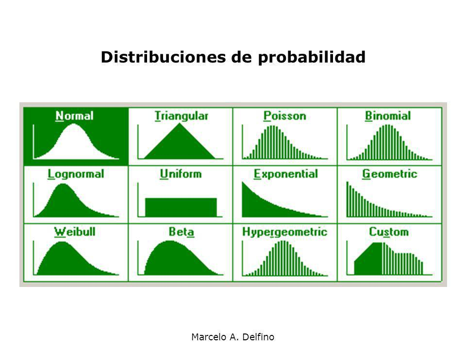 Marcelo A. Delfino Distribuciones de probabilidad
